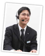 専門スタッフの一人 通信販売部 野田潤也よりお客様へメッセージ