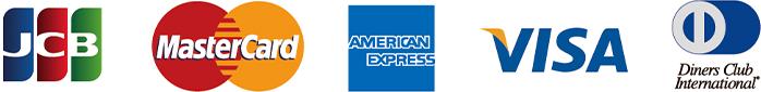 JCB MasterCard AMERICAN EXPRESS VISA diners club